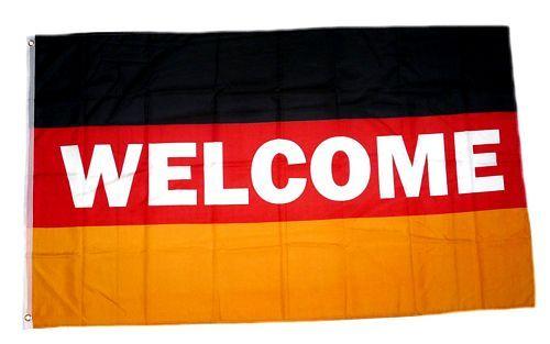 Fahne / Flagge Deutschland Welcome Willkommen 90 x 150 cm