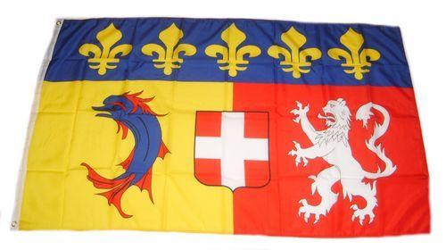 Fahne / Flagge Frankreich - Rhone Alpes 90 x 150 cm