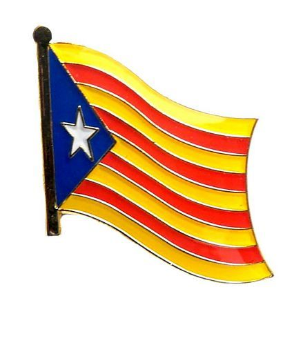 Fahnen Anstecker Pin Spanien - Katalonien Estelada Blava