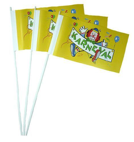 Papierfahnen Karneval