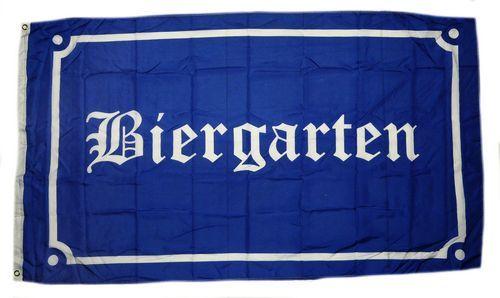 Fahne / Flagge Biergarten 90 x 150 cm