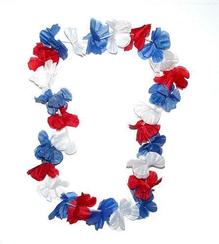 Hawaiikette Blau / Weiß / Rot