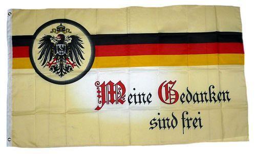 Fahne / Flagge Meine Gedanken sind frei 90 x 150 cm