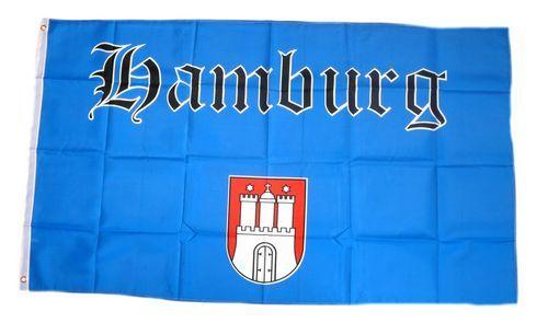 Fahne / Flagge Hamburg Schrift 90 x 150 cm
