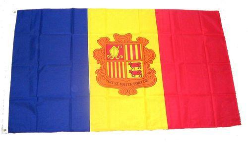 Flagge / Fahne Andorra Wappen Hissflagge 90 x 150 cm