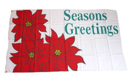 Fahne / Flagge Seasons Greetings 90 x 150 cm
