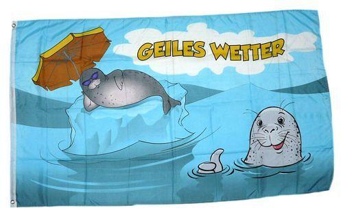 Fahne / Flagge Geiles Wetter NEU 90 x 150 cm