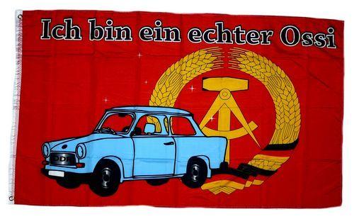 Fahne / Flagge Echter Ossi DDR 90 x 150 cm