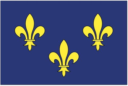 Fahnen Aufkleber Sticker Frankreich - Ile de France