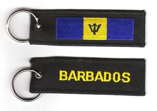 Fahnen Schlüsselanhänger Barbados