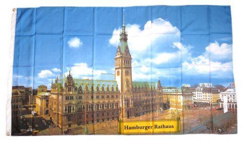 Fahne / Flagge Hamburger Rathaus 90 x 150 cm