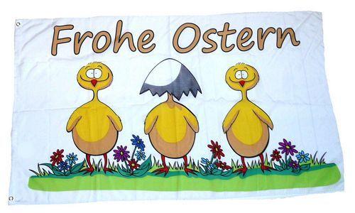 Fahne / Flagge Frohe Ostern Eierschale 90 x 150 cm