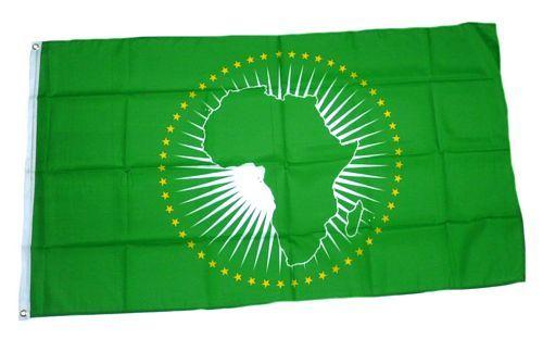 Fahne / Flagge Afrikanische Union 90 x 150 cm