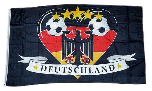 Fahne / Flagge Deutschland Fußball 14 90 x 150 cm