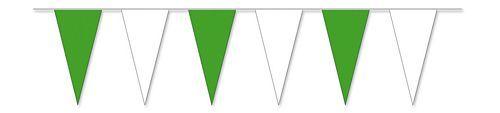Wimpelkette grün / weiß 4 m