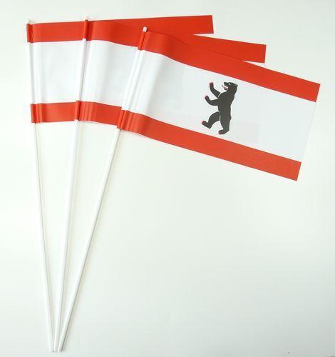 10 Papierfähnchen Berlin Papierfahnen Fahne Flagge