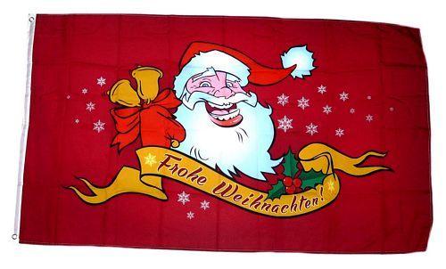 Fahne / Flagge Weihnachten rot  90 x 150 cm