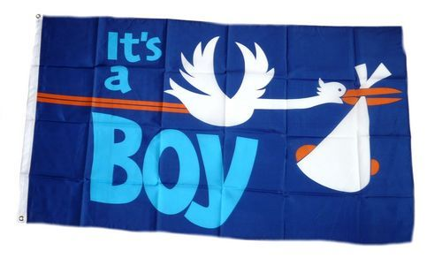 Fahne / Flagge It`s a Boy! 90 x 150 cm
