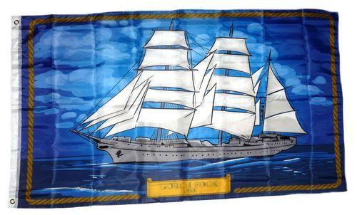Flagge / Fahne Segelschiff Gorch Fock 90 x 150 cm