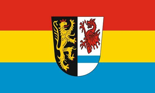 Fahne / Flagge Landkreis Tirschenreuth 90 x 150 cm