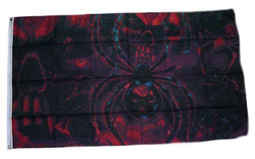 Fahne / Flagge Spider Skull 90 x 150 cm
