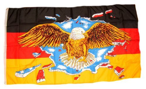 Fahne / Flagge Deutschland breiter Adler 90 x 150 cm
