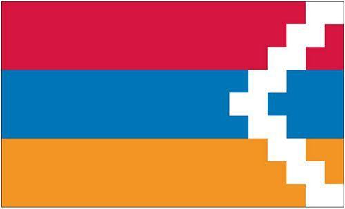 Flagge / Fahne Republik Bergkarabach Hissflagge 90 x 150 cm