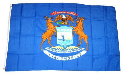 Fahne / Flagge USA - Michigan 90 x 150 cm
