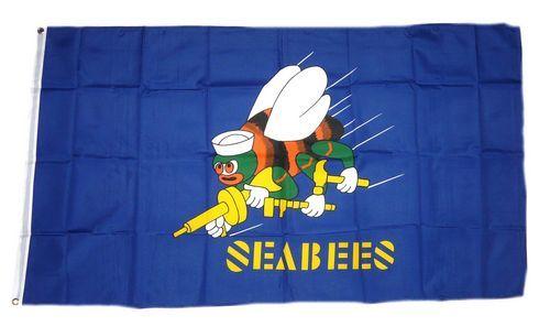 Fahne / Flagge US Navy Seebees 90 x 150 cm