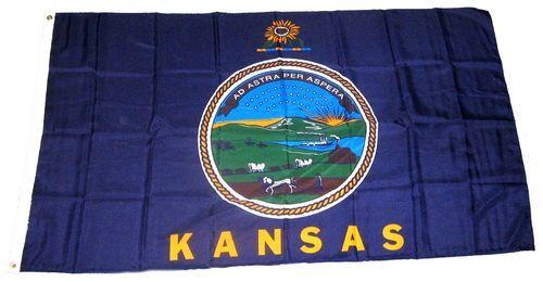 Fahne / Flagge USA - Kansas 90 x 150 cm