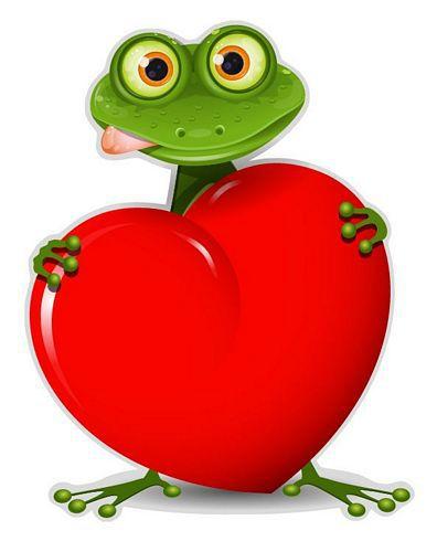 Autoaufkleber Sticker Frosch Herz