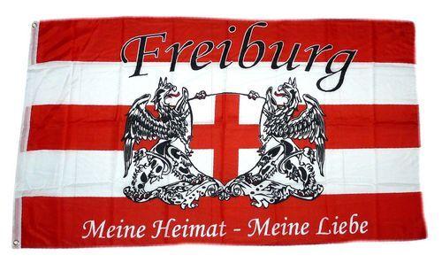 Fahne / Flagge Fußball Freiburg 90 x 150 cm