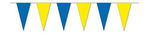 Wimpelkette blau / gelb