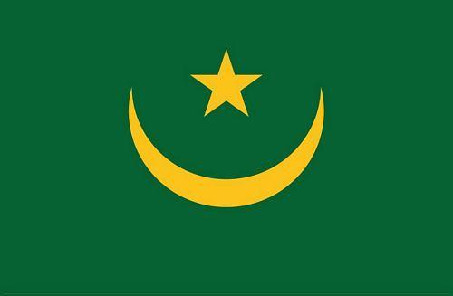 Fahnen Aufkleber Sticker Mauretanien