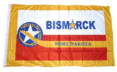 Fahne / Flagge USA - Bismarck City 90 x 150 cm