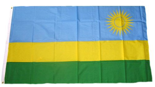 Flagge / Fahne Ruanda Hissflagge 90 x 150 cm