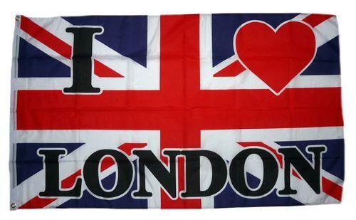 Fahne / Flagge London I Love You 90 x 150 cm
