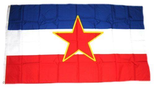 Fahne / Flagge Jugoslawien Stern 90 x 150 cm