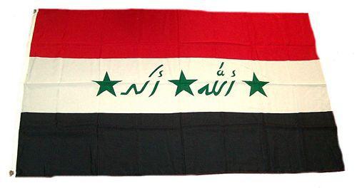 Flagge / Fahne Irak Hissflagge 90 x 150 cm