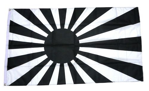 Fahne / Flagge Rising Sun schwarz / weiß NEU 90 x 150 cm