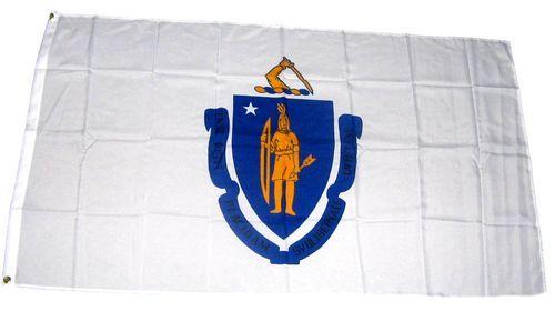 Fahne / Flagge USA - Massachusetts  90 x 150 cm