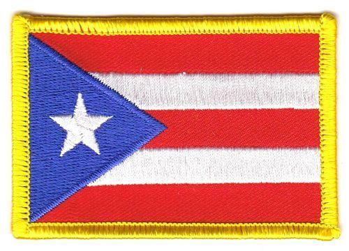 Fahnen Aufnäher Puerto Rico
