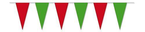 Wimpelkette rot / grün 4 m