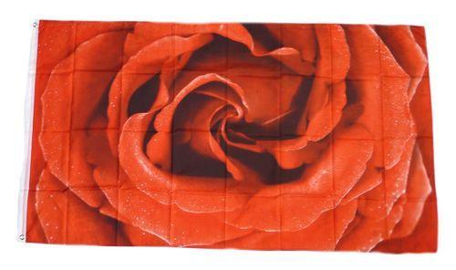 Fahne / Flagge Rose 90 x 150 cm