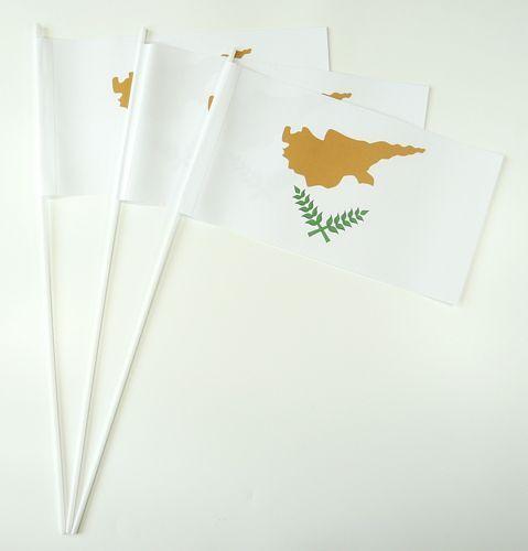 10 Papierfähnchen Zypern Papierfahnen Fahne Flagge