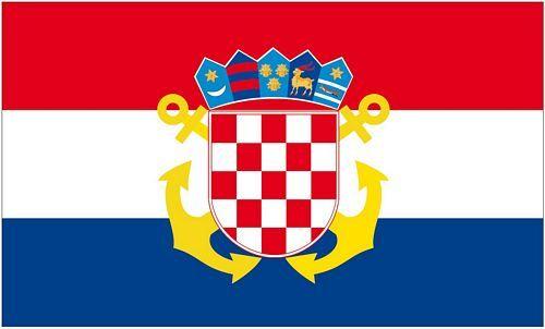 Fahne / Flagge Kroatien Seekriegsflagge 90 x 150 cm