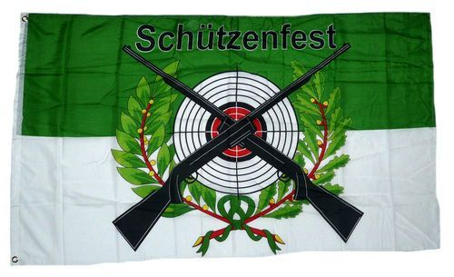 Fahne / Flagge Schützenfest Wappen Schrift 90 x 150 cm