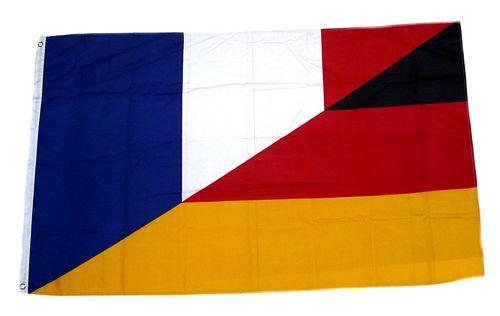 Fahne / Flagge Deutschland / Frankreich 90 x 150 cm