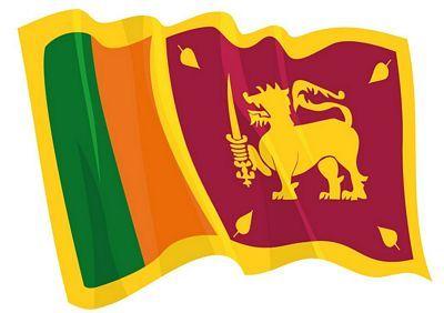 Fahnen Aufkleber Sticker Sri Lanka wehend