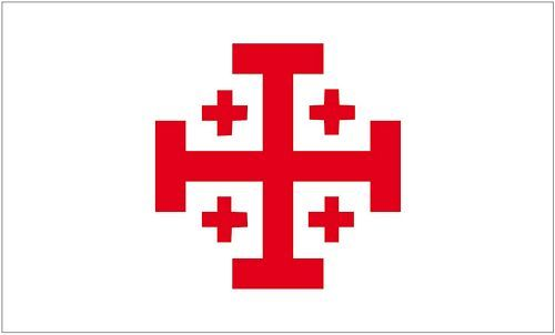 Fahne / Flagge Orden vom heiligen Grab 90 x 150 cm